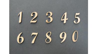 Numeros madera DM adhesiva- Numeros- 2 cm 7