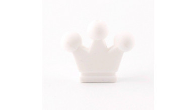 Figurita de silicona- Corona 32x28 mm- Color Blanco 01