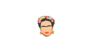 Frida- Aplique cabuchon madera 15x12 mm- 1 par - 2 uds