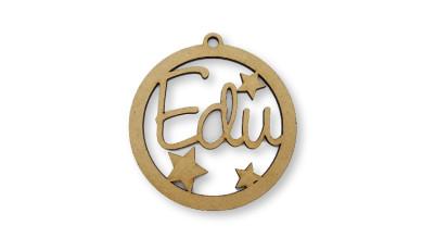 Bola de Navidad 9 cm nombre personalizado POR ENCARGO  (15 días aprox).