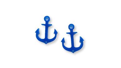 Plexy azul- Entrepieza ancla 27 mm, int 1.2 mm