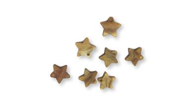 Colgante estrella dorado perlado plexy 12 mm