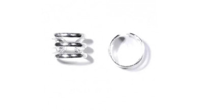 Pendiente de Cartilago earcuff en plata de ley - Aro triple - 1 ud