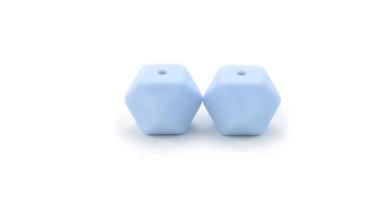 Poliedros de silicona peque 15x15 mm- Color Azul bebe