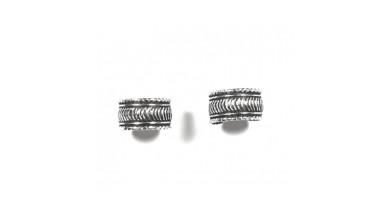 Pendiente de Cartilago earcuff en plata de ley - Aro rayas - 1 ud