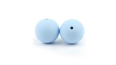 Bola de silicona 12 mm- Color Azul bebe 18