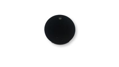 Plexy negro - Moneda placa circulo 35 mm, int 2.5 mm ( grabar)