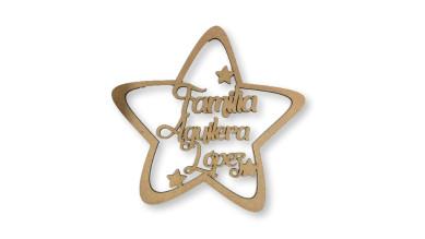 Estrella Navidad grande - 20 cm - Familiar personalizada - POR ENCARGO  (15 días laborables aprox)