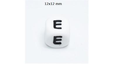 Cubo letra silicona 12x12 mm- Premium - Letra E