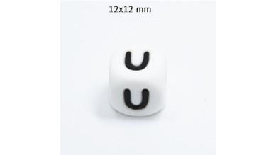 Cubo letra silicona 12x12 mm- Premium - Letra U