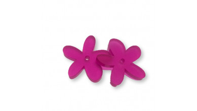 Plexy fucsia - Colgante margarita  25 mm, int 1.2 mm