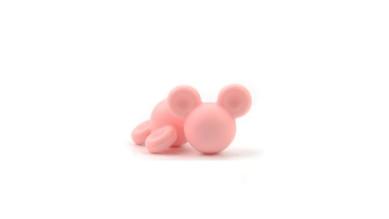 Cabezas de raton silicona 24x20x14 mm- Color Rosa pastel