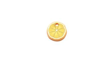 Plexy estampado - Colgante fruta limon 12 mm