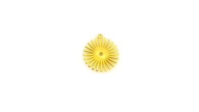Sol rayos 26 mm - Colgante ZAMAK baño oro