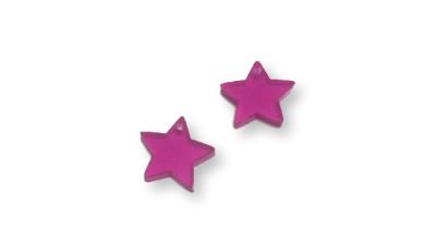 Plexy fucsia- Colgante estrella 15 mm, int 1.2 mm