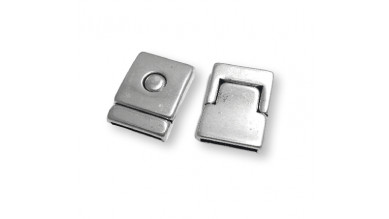 Cierre zamak baño plata calidad superior boton magnetico 32x23 mm ( int 20x2 mm)