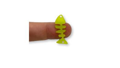 Plexy verde lima - Entrepieza raspa pescado 21x9 mm, int 1.2 mm