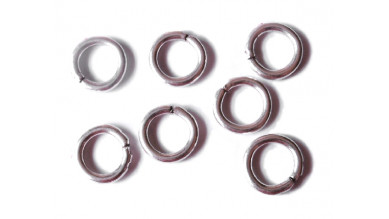 Argolla anilla de zamak plateado 12 mm, grosor 2 mm