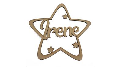Estrella de Navidad 9 cm nombre personalizado POR ENCARGO  (15 días aprox)