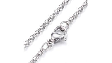Cadena  collar  acero inoxidable eslabón 2x2mm - 60 cm