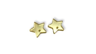 Plexy dorado espejo - Aplique colgante estrella invertida 15 mm ( 2 uds)
