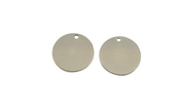 Moneda chapita de acero lisa, ideal grabar 20 mm