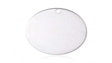 Moneda chapita de acero lisa, ideal grabar 25 mm