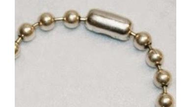Cierre de ACERO inoxidable para cadena de bolas 6.5 mm