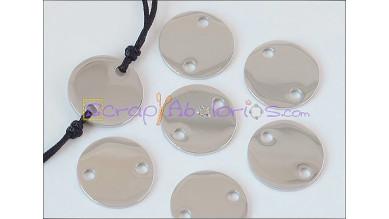 Entrepieza conector moneda acero inoxidable 13 mm, int 1.5 mm