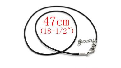 Cordon base collar algodon color negro 1.5 mm grosor cadenita