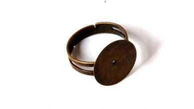Base anillo bronce con base plana 15 mm