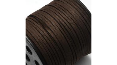 Cordón de antelina 2.5 mm chocolate (1 metro)