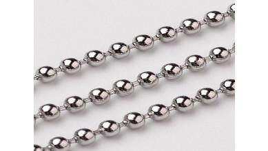 Cadena bolas bolitas de acero 1.5 mm - 1 metro