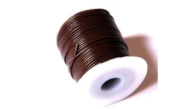 Cordon cuero color marron oscuro 2 mm ( 1 metro)