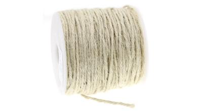 Cordon cuerda esparto yute 1 mm. Color natural  ( 1 m)