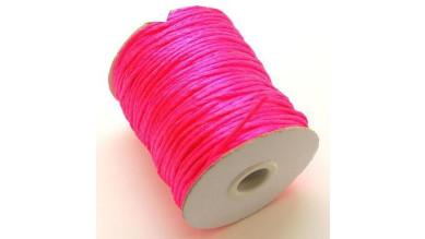 Cola de raton 2 mm, color rosa fosforito ( 1 metro)