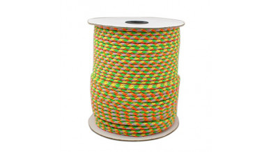 Cordon cuero trenzado alta calidad 3 mm MIX FLUOR 2 ( 1 m)