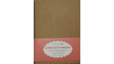 5x7  Dovecraft Kraft Cards and envelopes- Set 10 uds