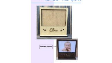 Marco de fotos con base DM de 5 mm para foto de 10x15 cm - Star