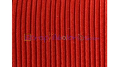 Cordon elástico redondo 1 mm color rojo ( 1 metro)