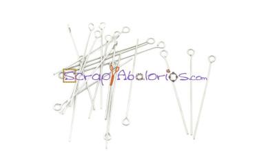 Baston ACERO anilla plateado 4 cm (50 uds)