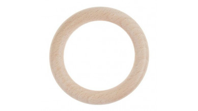 Aros de madera de haya sin lacar- Tamaño 70 mm, int 45 mm
