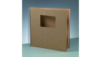 Album libreta 30.5x30.5 cm kraft para decorar- Ventana Cuadrada
