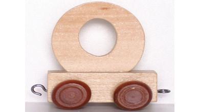 Articulo bebe - Tren de Letras - Letra O natural - 5x3.5x6 cm
