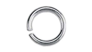 Anilla 6 mm niquel plateado 10 gramos ( 100 uds aprox)
