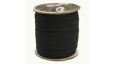 10 metros - Cordon de nylon 0.8 mm macrame negro