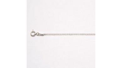 Cadena cerrada rolo plata de ley rodiada 1 mm (50 cm)