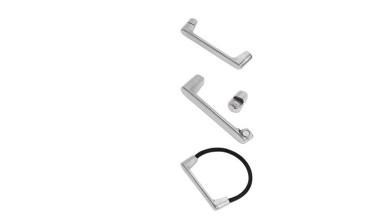 Accesorio pulsera de Zamak plateado magnetica 64.5 mm