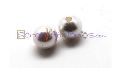 Bola perla de nacar blanca 16 mm, int 4 mm