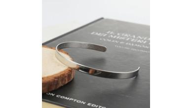 Base pulsera acero ancho 5 mm (ideal grabar) caña de 65mm